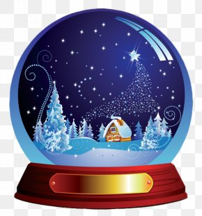Dark Blue Christmas Snowglobe Clipart - Amazon.com Santa Claus Snow Globe Christmas Holiday PNG