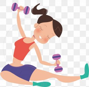 Barbell Woman - Barbell Dumbbell Bodybuilding PNG