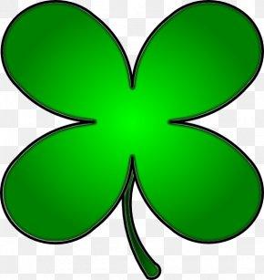 Four Leaf Clover - Four-leaf Clover Shamrock Saint Patrick's Day Clip Art PNG