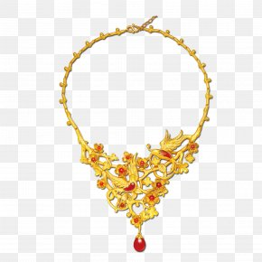 Gold Necklace - Necklace Gold Jewellery Fashion Accessory PNG