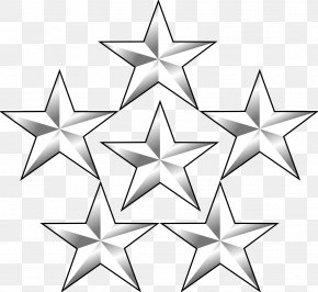 5 Stars - General Of The Army Five-star Rank Military Rank General Of The Armies PNG