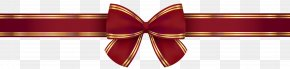 Red Gold Bow Clip Art Image - Red Necktie Font PNG