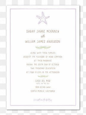 Wedding Invitation Paper - Wedding Invitation Paper Marriage In Memoriam Card Place Cards PNG