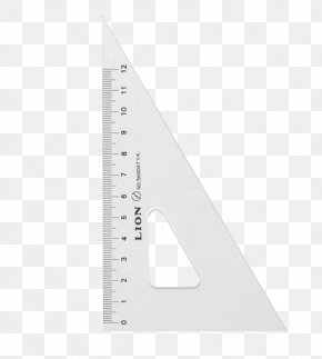 A Right-angle Triangle Ruler - Right Triangle Right Angle Set Square PNG