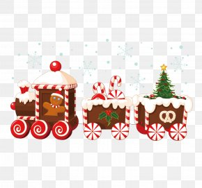 Christmas Decoration Creative Car - Train Santa Claus Christmas Clip Art PNG