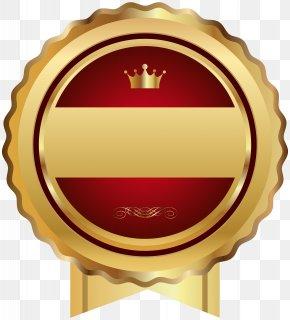Red Gold Seal Badge Transparent Clip Art - Web Template Clip Art PNG
