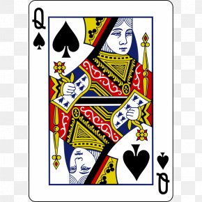 Queen - Queen Of Spades Playing Card King PNG
