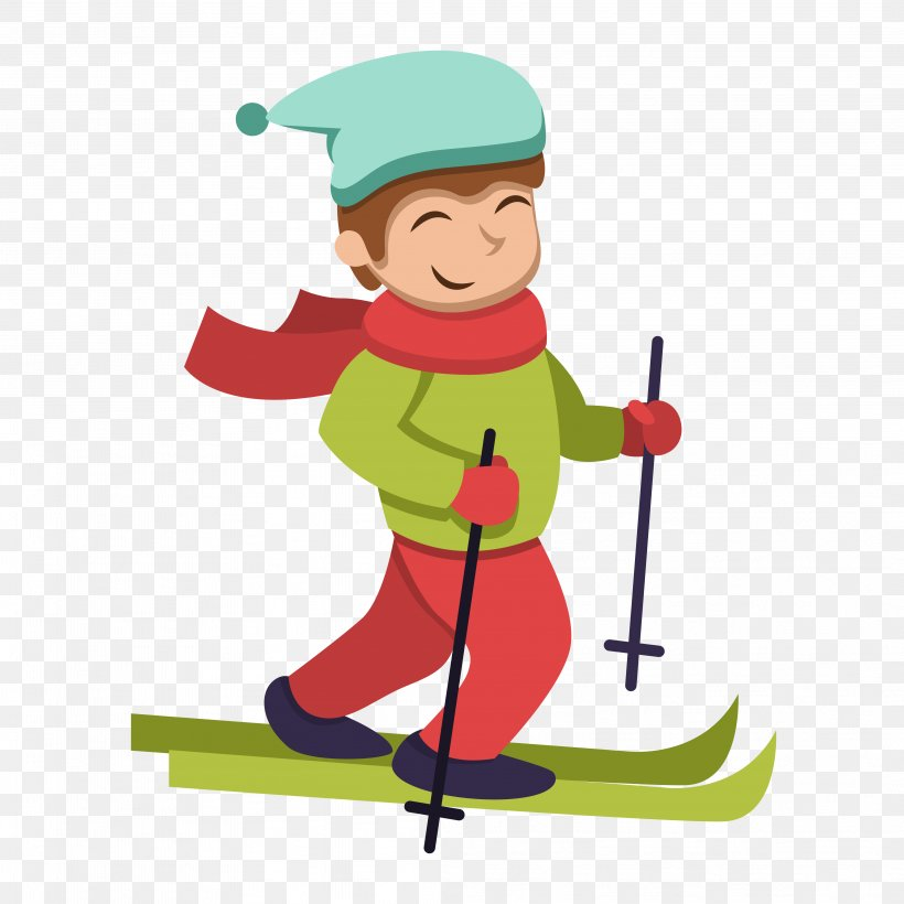 Vector Graphics Euclidean Vector Illustration, PNG, 4167x4167px, Vector, Art, Cartoon, Crosscountry Skier, Crosscountry Skiing Download Free