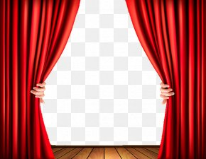 High-grade Red Curtain Vector - Light Theater Drapes And Stage Curtains Clip Art PNG