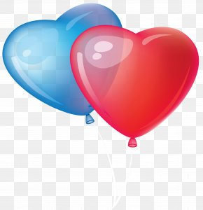 Balloon - Valentine's Day Heart Balloon Clip Art PNG