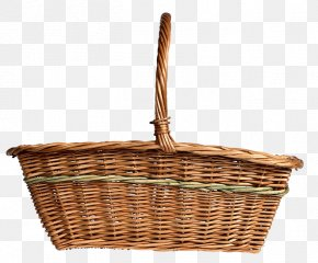 Bamboo Pick Basket Basket Material Free To Pull - Basket Software PNG