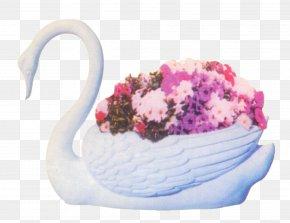Swan Pot - Flower PNG