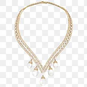 Jewellery - Necklace Pearl Jewellery Gold PNG