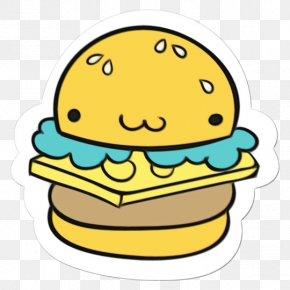 Cheeseburger Junk Food - Yellow Facial Expression Green Cartoon Smile PNG