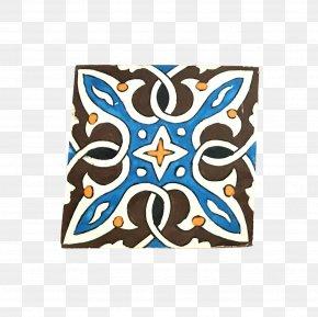 Moroccan Tiles - Cobalt Blue Product Rectangle Font PNG