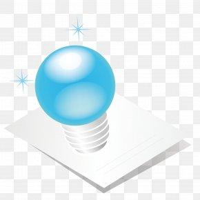 Light Blue Bulb - Incandescent Light Bulb Blue PNG
