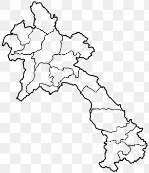 Map - Provinces Of Laos Bolaven Plateau Blank Map Vietnam PNG