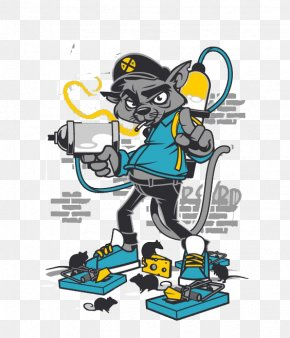 Graffiti Mickey Mouse - Mickey Mouse Graffiti Illustration PNG