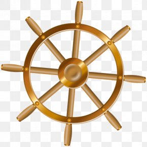 Ship - Ship's Wheel Boat Clip Art PNG