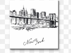 New York City Silhouette - New York City Drawing Vector Graphics Skyline Illustration PNG