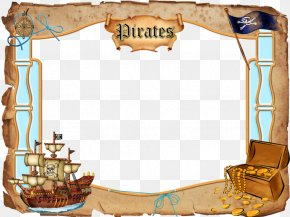Pirate Frame Cliparts - Piracy Picture Frame Clip Art PNG