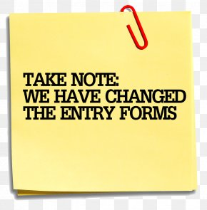 Taking Note - Post-it Note Paper Clip Art PNG