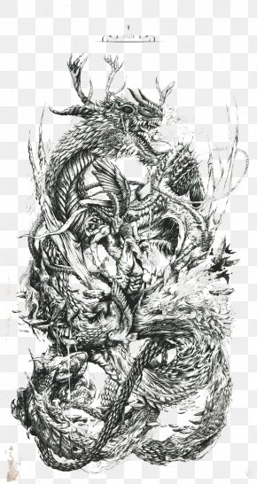 The Dragon - Work Of Art Drawing Printmaking Illustration PNG