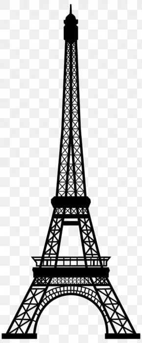 Blackandwhite Spire - Eiffel Tower Drawing PNG