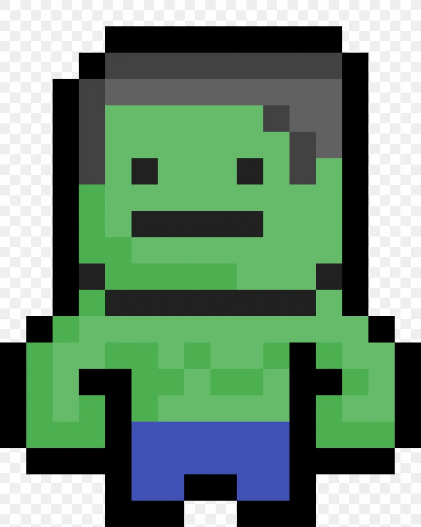 Minecraft Hulk Pixel Art Video Games Superhero Png
