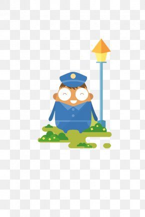 A Police Officer - Cartoon Police Officer Illustration PNG