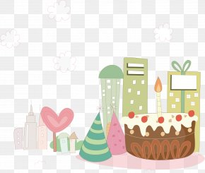 Birthday Holiday Party Background Material - Birthday Cake Party PNG
