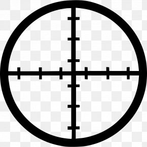 Crosshair - Reticle Shooting Target Telescopic Sight Clip Art PNG