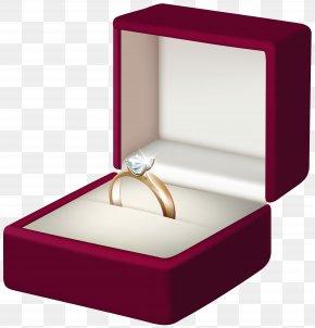Engagement Ring Transparent Clip Art - Engagement Ring Box Clip Art PNG