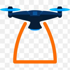 UAV - Unmanned Aerial Vehicle Remote Control Drone Racing Icon PNG