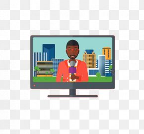 TV News - Television Show Broadcasting Clip Art PNG