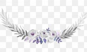 Pattern Leaf Decoration - Watercolour Flowers Wedding Invitation Purple Watercolor Painting Clip Art PNG