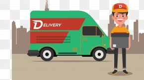 Vector Of Delivery Truck - Delivery Courier PNG