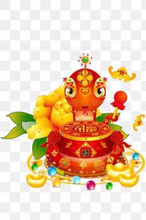A Red Snake - Snake Chinese Zodiac Chinese New Year Rat Monkey PNG