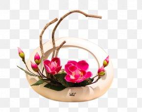 Magnolia Flower Floral Living Room Window Table Ceramics - Artificial Flower Ceramic PNG