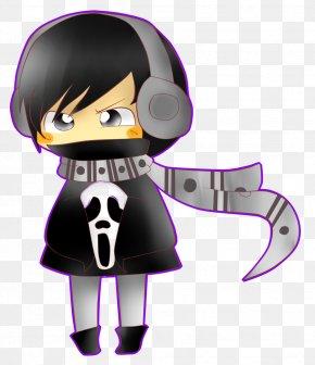 Bad Habits - Black Hair Purple Character Clip Art PNG