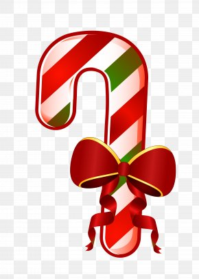 Christmas Walking Stick - Candy Cane Christmas Walking Stick Clip Art PNG