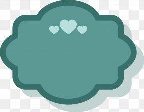 Blue Heart Border - Paper Green Blue Sticker PNG