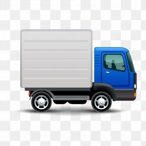 Goods Wagons - Pickup Truck Van Car Vector Graphics PNG