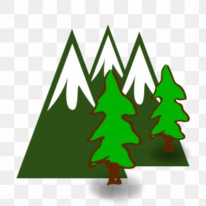Evergreen Cliparts - Oakhurst Mountain Pixabay PNG