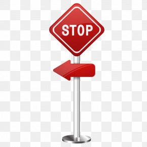 Red Diamond Sign Stop Sign - Red PNG