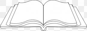 Book Clipart Line Art - Clip Art Image Line Art Illustration Openclipart PNG