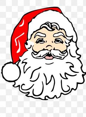 Christmas Cat Clipart - Santa Claus Face Clip Art PNG