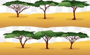 Vector Hot Weather - Branch Wattles Tree Euclidean Vector PNG
