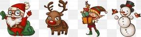 Santa Claus With Christmas Elements - Santa Claus Christmas PNG