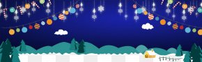 Electric Blue Blue - Merry Christmas Happy New Year Christmas Background PNG